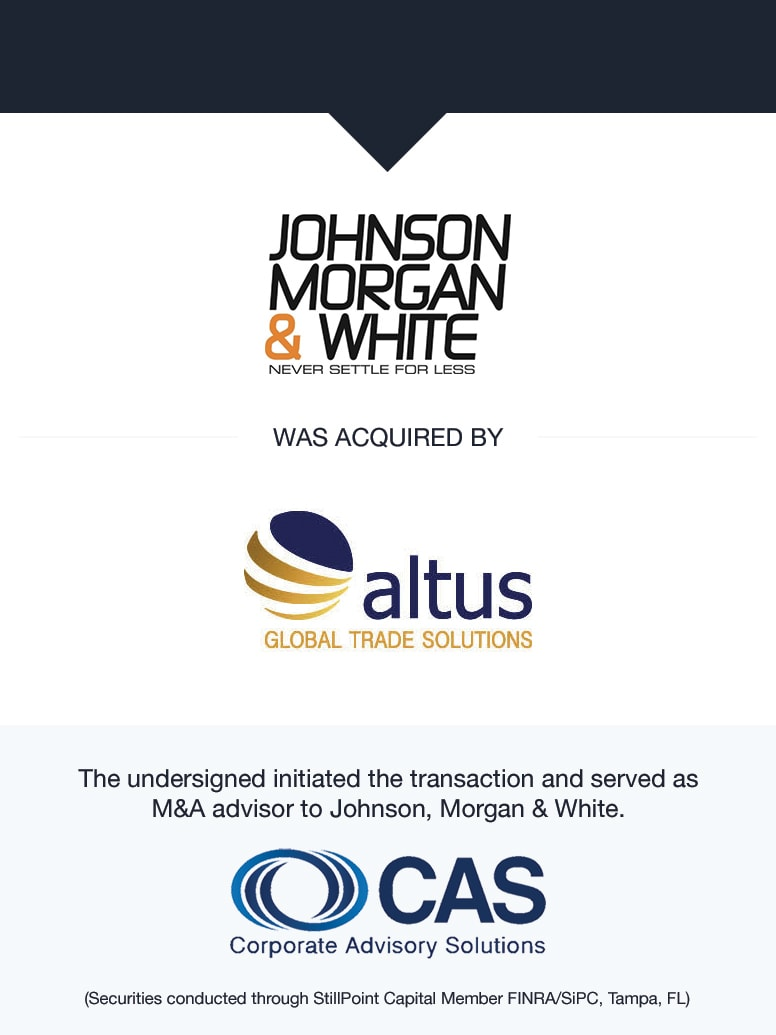 Johnson, Morgan & White | Select Transaction | Corporate Advisory Solutions