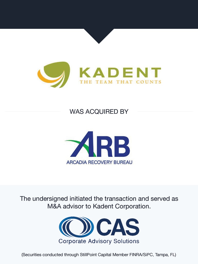 Kadent | Select Transaction | Corporate Advisory Solutions