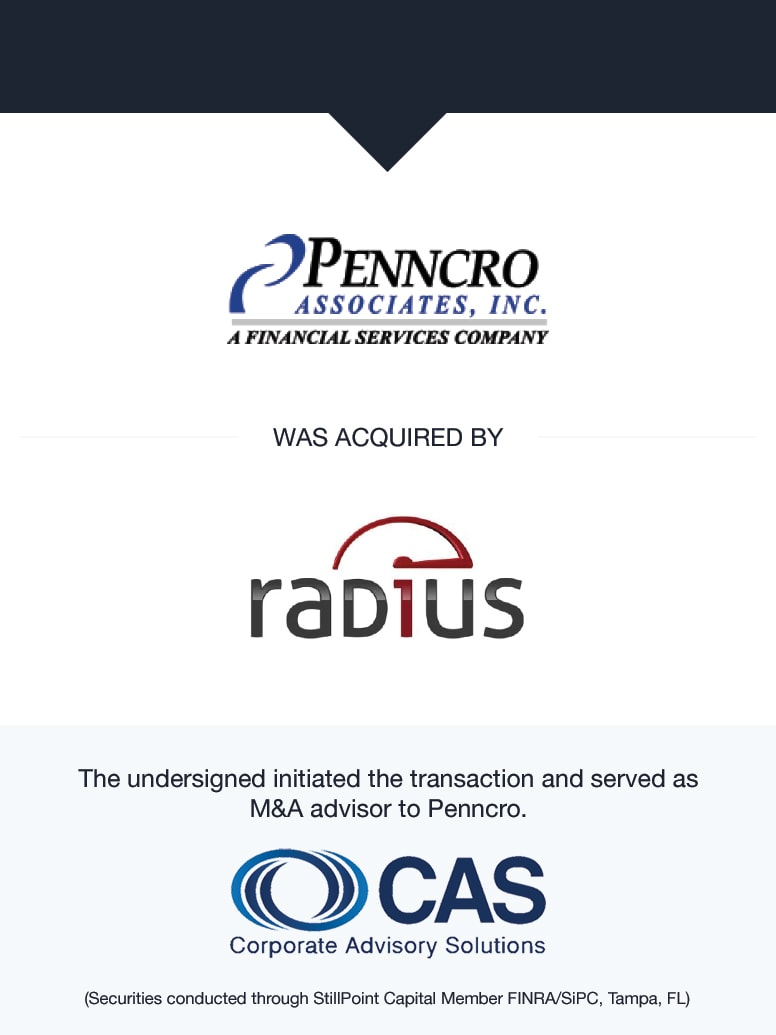 Penncro Associates, Inc. | Select Transaction | Corporate Advisory Solutions