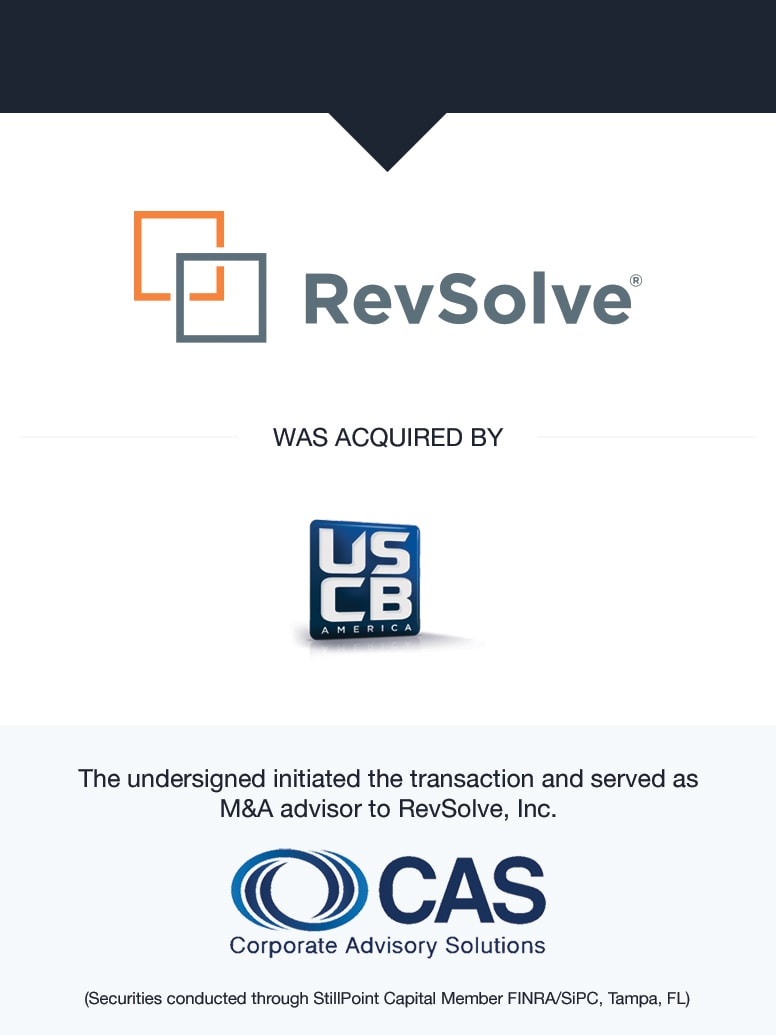 RevSolve | Select Transaction | Corporate Advisory Solutions