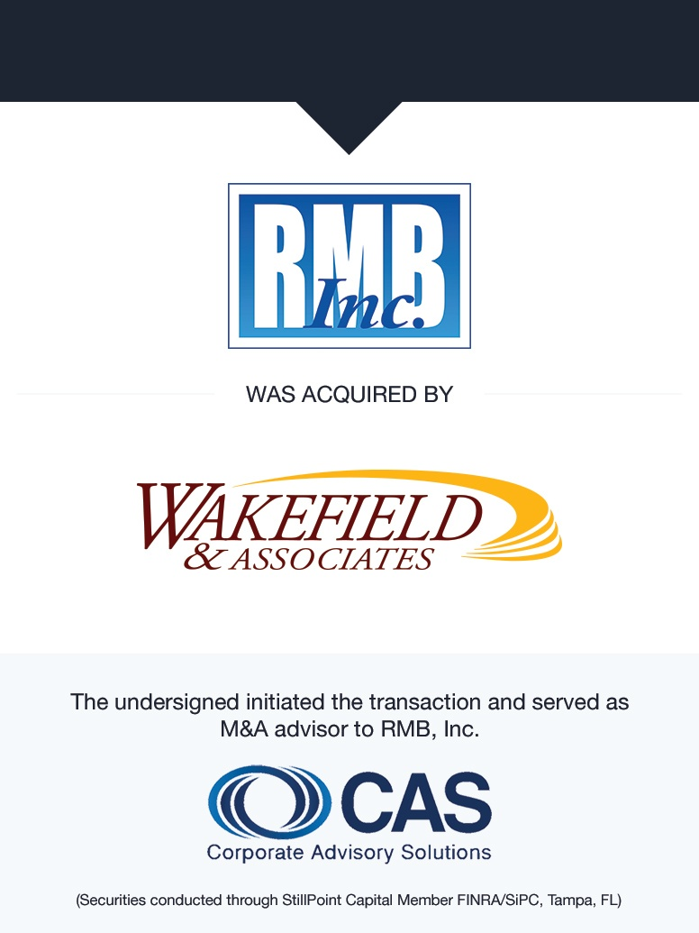 RMB, Inc. | Select Transaction | Corporate Advisory Solutions