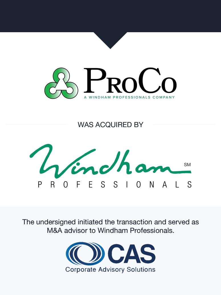 Windham Professionals | Select Transaction | Corporate Advisory Solutions
